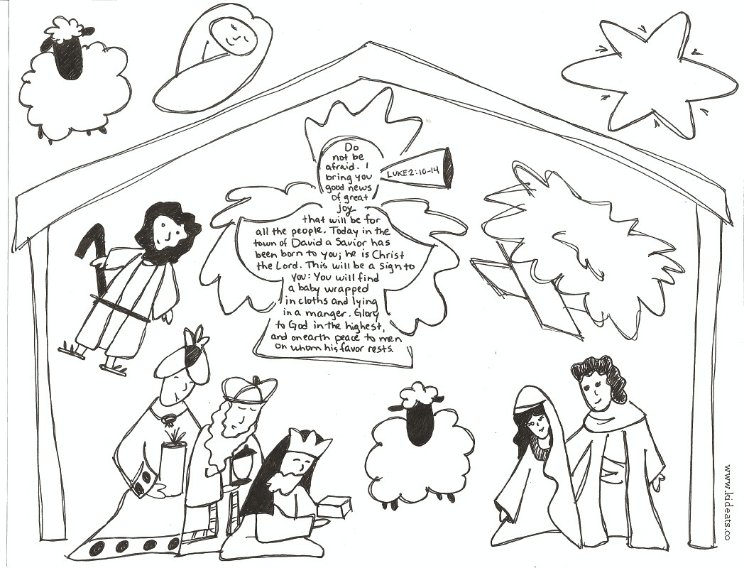 You Can Cut Out Nativity Scene Coloring Pages Coloring Pages