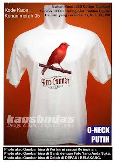 Kaos Kenari merah 05