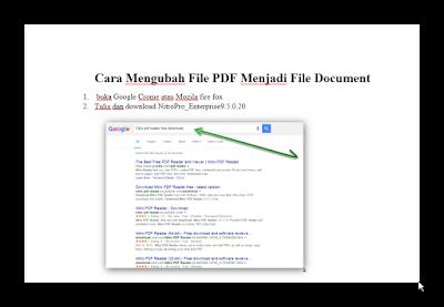 Download Cara Mengubah File PDF Menjadi File Document