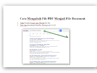 Download Cara Mengubah File PDF Menjadi File Document