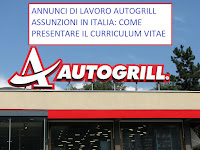 Autogrill assume personale in Italia