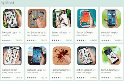 Cara Menampilkan Semut Berjalan di Layar HP Android
