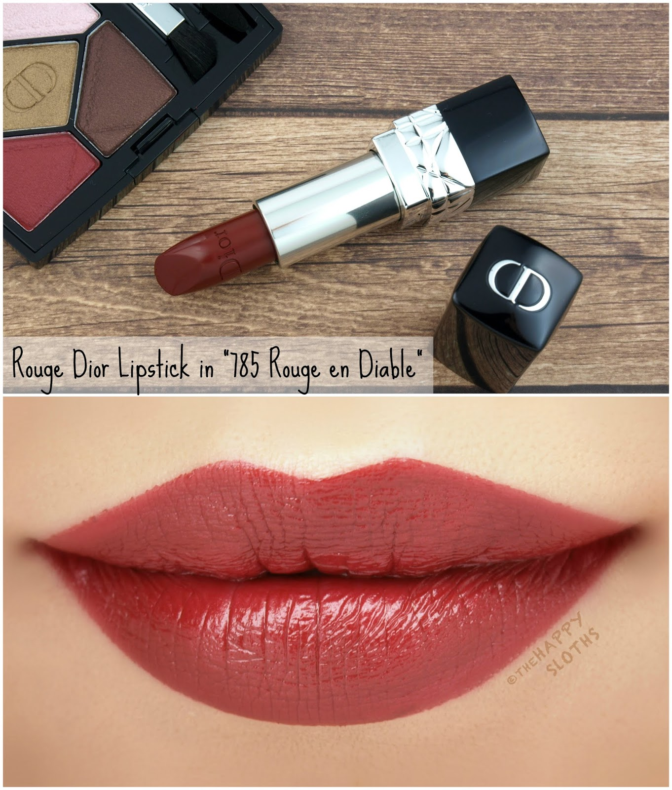 "Dior Fall 2018 Dior en Diable Collection | Rouge Dior Couture Colour Lipstick in ""785 Rouge en Diable"": Review and Swatches"