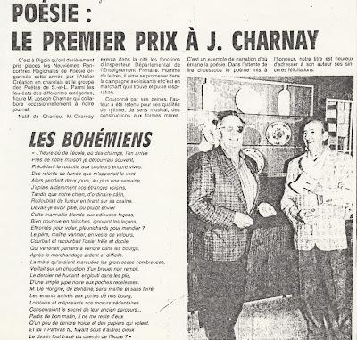 Remise du Premier Prix de la Poésie en 1990