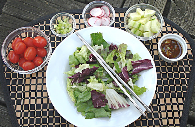 Mixed Greens with Hoisin Sesame Vinaigrette