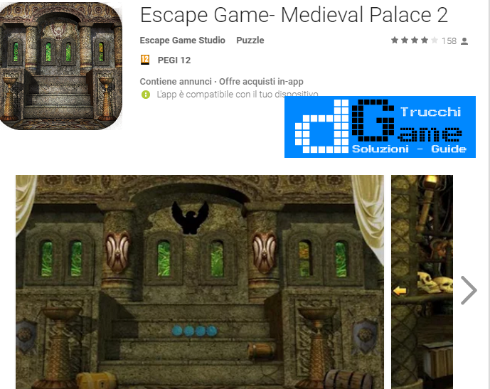 Soluzioni Escape Game- Medieval Palace 2 livello unico | Trucchi e Walkthrough level