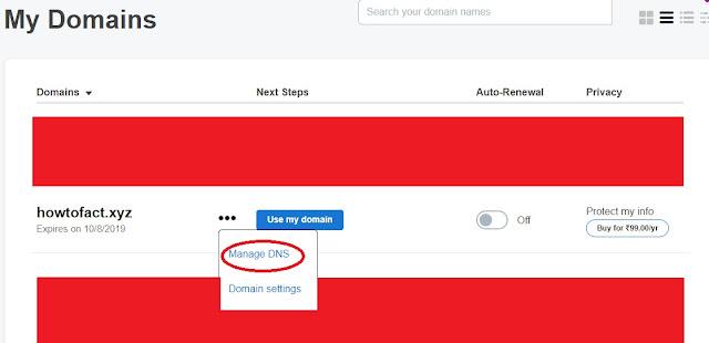 How to Setup Custom Domain on Blogger with Godaddy.com