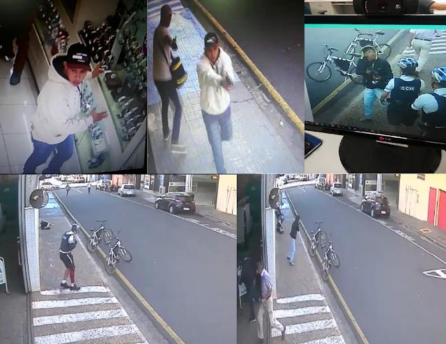 Guardas Civis são metralhados por marginais que estavam assaltando joalheria no centro de São José do Rio Preto