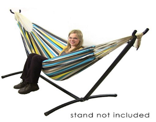Sunnydaze Natural Cotton Double Brazilian Hammock