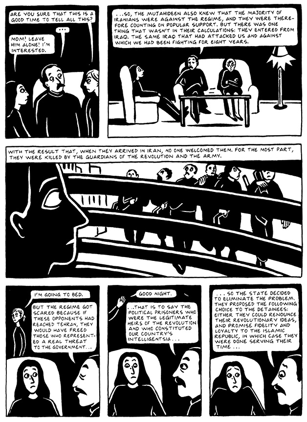 Read Chapter 10 - The Return, page 101, from Marjane Satrapi's Persepolis 2 - The Story of a Return