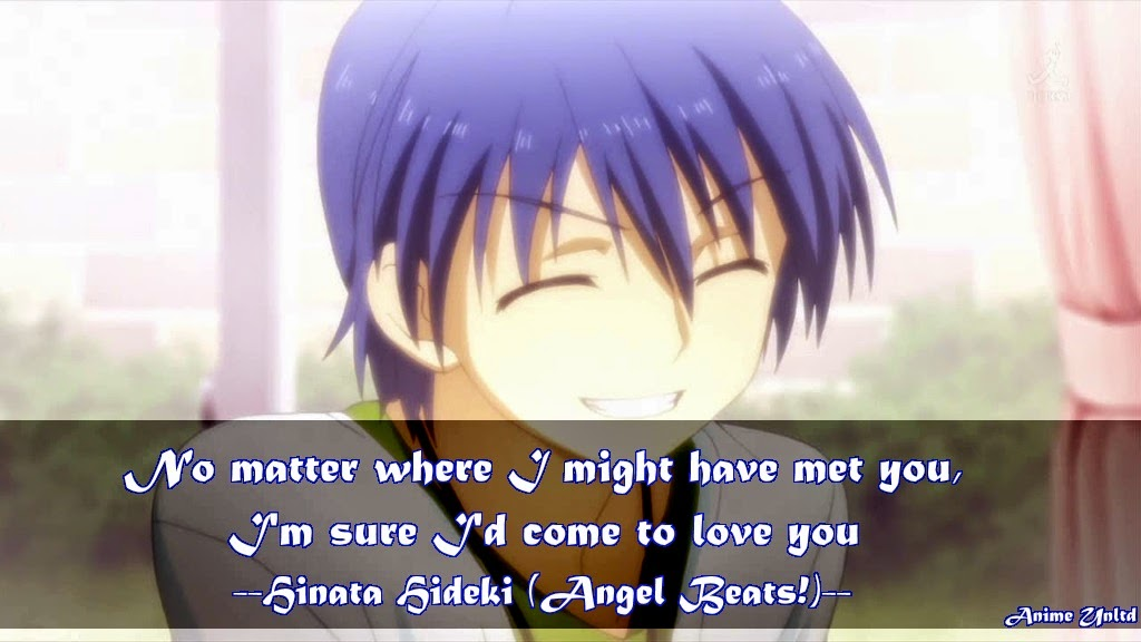 my anime review angel beats quotes