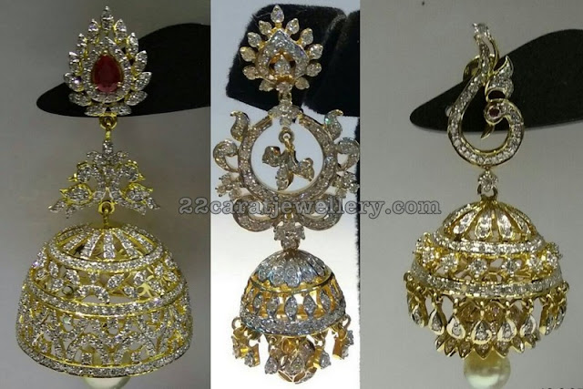 Diamond Jhumkas Collection