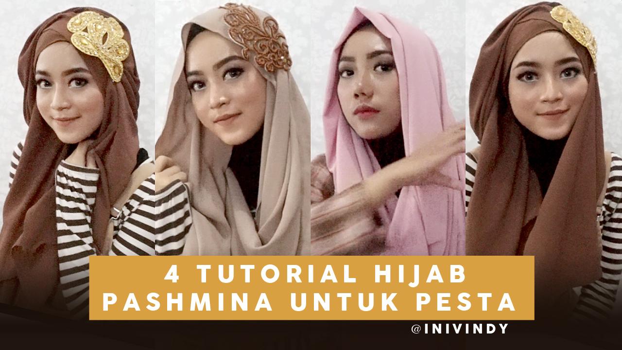 Ini Vindy Yang Ajaib 4 Tutorial Hijab Pesta Dan Wisuda