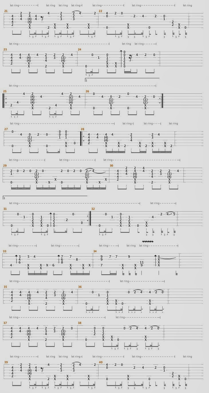 Fingerstyle Tabs : The Lazy Song ( Bruno Mars ...