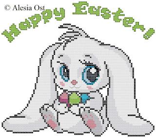 Free cross-stitch patterns, Easter Bunny, Easter, bunny, animal, rabbit, clipart, cross-stitch, back stitch, cross-stitch scheme, free pattern, x-stitchmagic.blogspot.it, вышивка крестиком, бесплатная схема, punto croce, schemi punto croce gratis, DMC, blocks, symbols, patrones punto de cruz, #crossstitch_pattern, #crossstitch