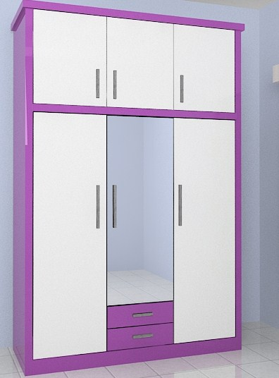 lemari pakaian minimalis model baru elegan
