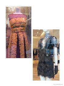 lace dresses in the shop windows of Paris