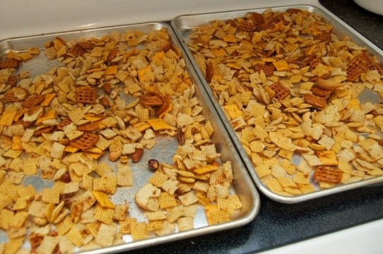 chex mix oven instructions