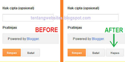 Cara menghapus widget Powered by Google yang bandel