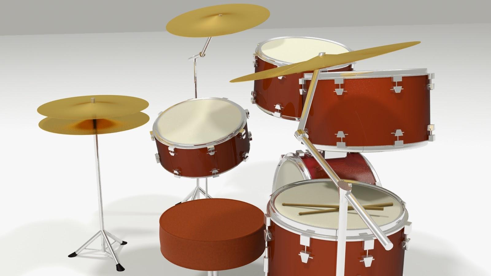 3D Drumset Model