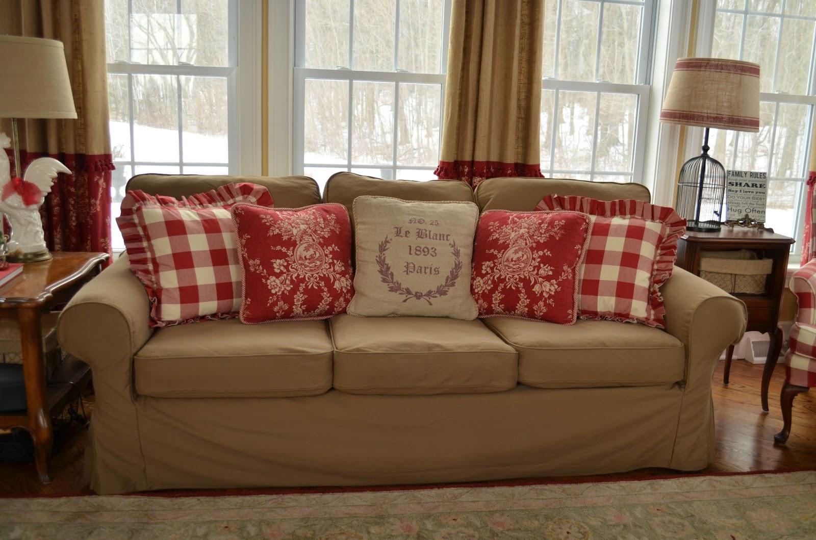 Buffalo Check Sofa Cover Bed Sheets Canada The Thrifty Gypsy Slipcover Secret