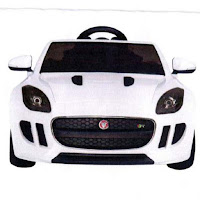 Mobil Mainan Aki Hugo DMD218 Jaguar F-Type Convertible Lisensi