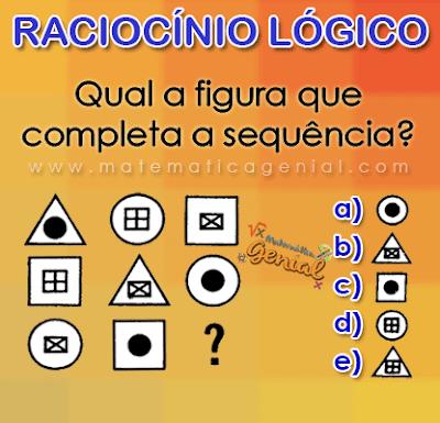 Qual figura completa a sequencia?
