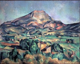 Paul Cezanne, Mont Sainte-Victoire seen from Bellevue,