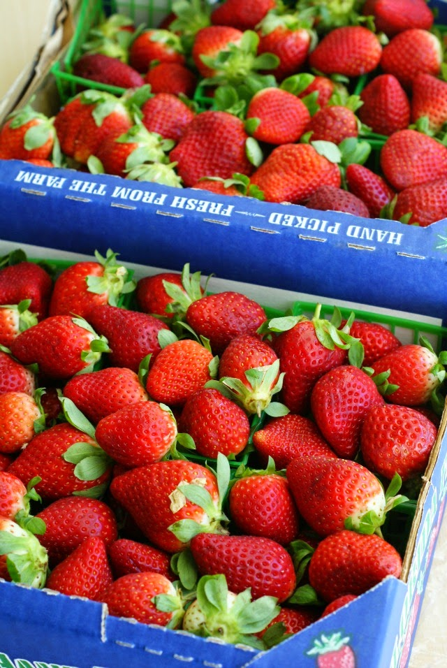 Fresh strawberries to make a quick and easy Strawberry Refrigerator Jam
