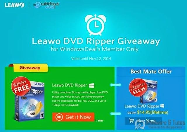 Offre promotionnelle : Leawo DVD Ripper gratuit !