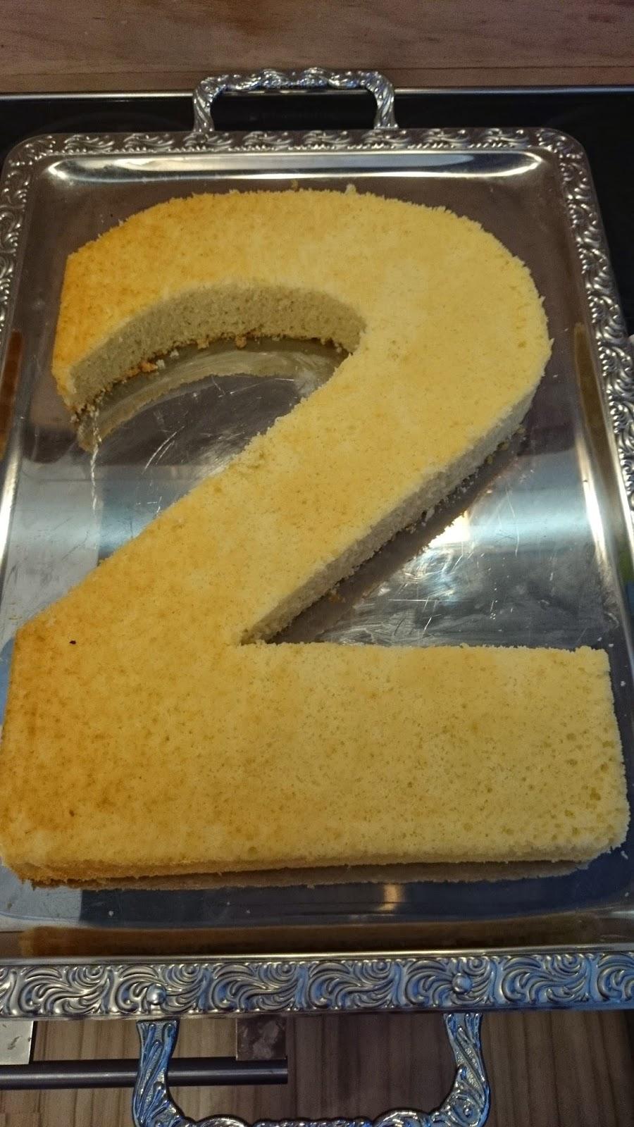 Geburtstagskuchen zahl 2  Hausrezepte von beliebten Kuchen