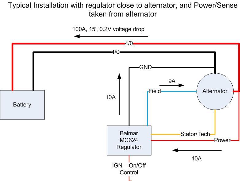 Adventures of tanglewood voltage sensing for balmar mc624 regulators typical regulator installation near engine and alternator asfbconference2016 Choice Image