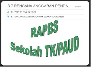 Contoh RAPBS PAUD/TK/KB/TPA