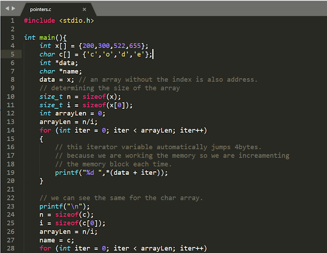 Basics of Pointers In C ~ Code In Cafe