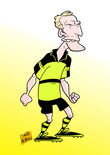 Matthias Sammer cartoon caricature