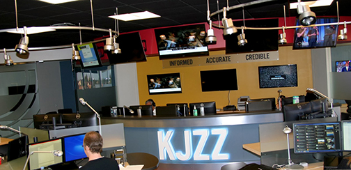 Image of KJZZ newsroom in Tempe, Arizona