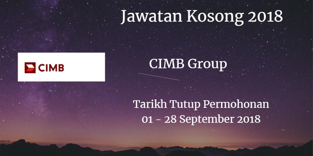 Jawatan Kosong CIMB Group 27 September 2018