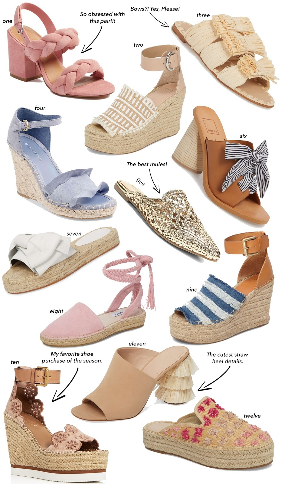 25 Shoes for Spring - Click through to Something Delightful Blog for details