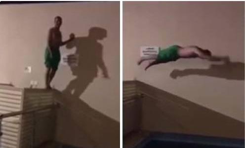 رجل أراد الاستعراض في حمام السباحة.. فكانت النهاية دامية شاهد ماذا حدث معه