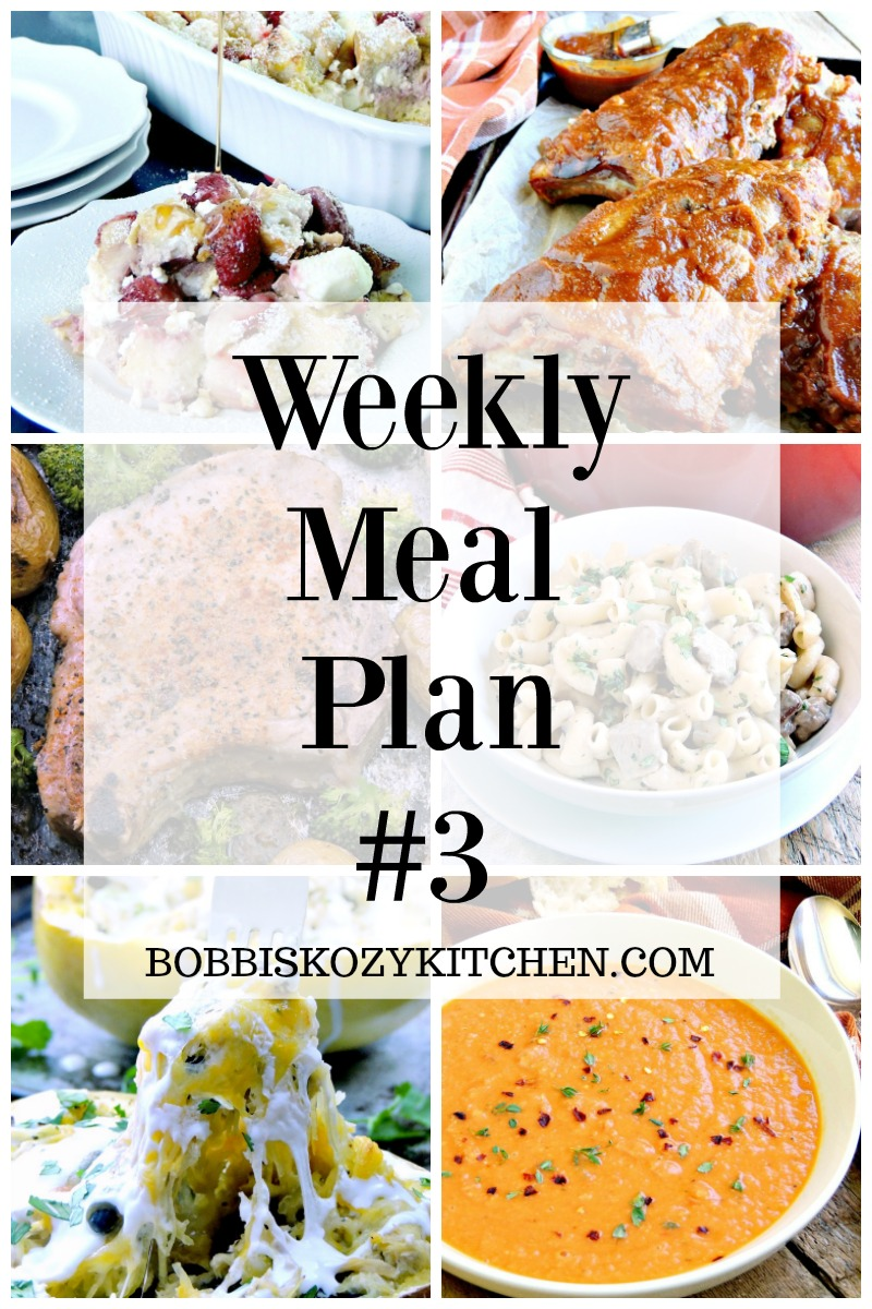 Free weekly meal plan week #2 from www.bobbiskozykitchen.com