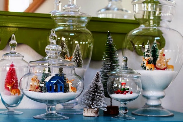 Christmas Terrariums from A Bit of Sunshine