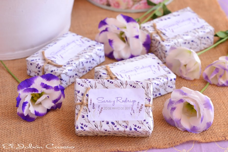 Detalles para bodas jabones lavanda