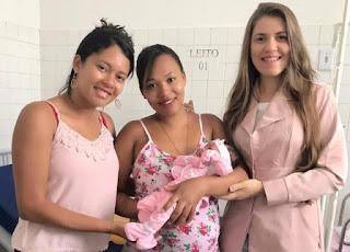 Primeiro bebê de 2019 em Itaetê é menina e nasceu de parto humanizado