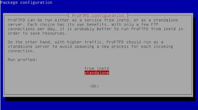 Install FTP Server ProFTPD
