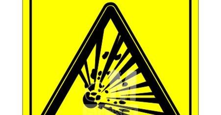 Stiker Safety Sign Awas Mudah Meledak Cutting Sticker