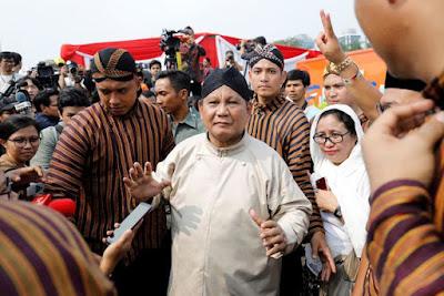 Prabowo Berjoget 'Damai', Acara Deklarasi Usai