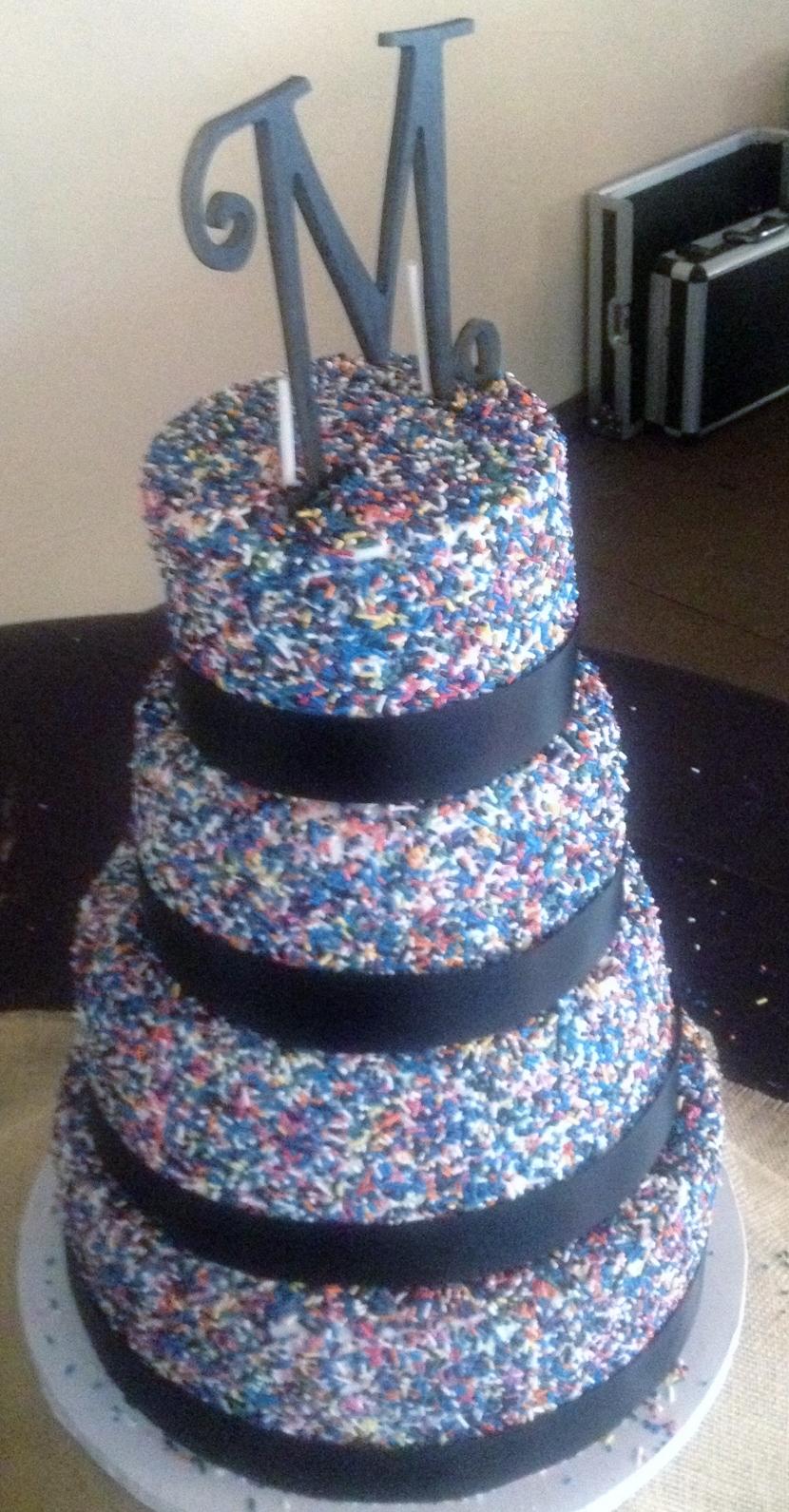 Cups N Cakes Sprinkle Wedding Cake