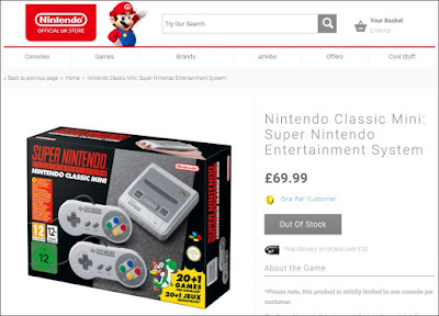 Super Nintendo Classic Edition Sold Out Nintendo Store