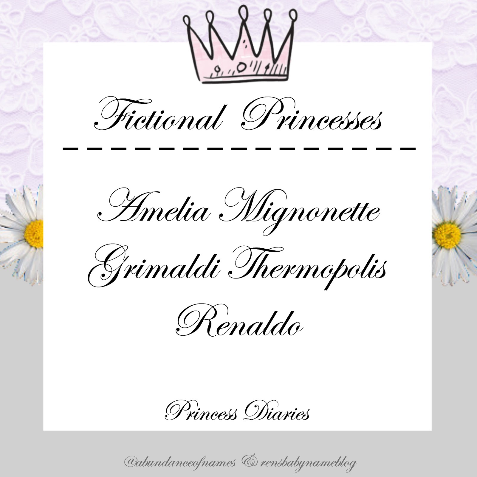Ren S Baby Name Blog Non Disney Fictional Princesses