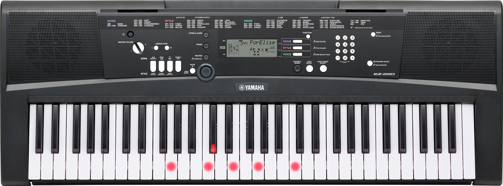 dan organ Yamaha EZ-220